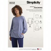 8658 Simplicity Pattern: Misses' Top with Options for Design